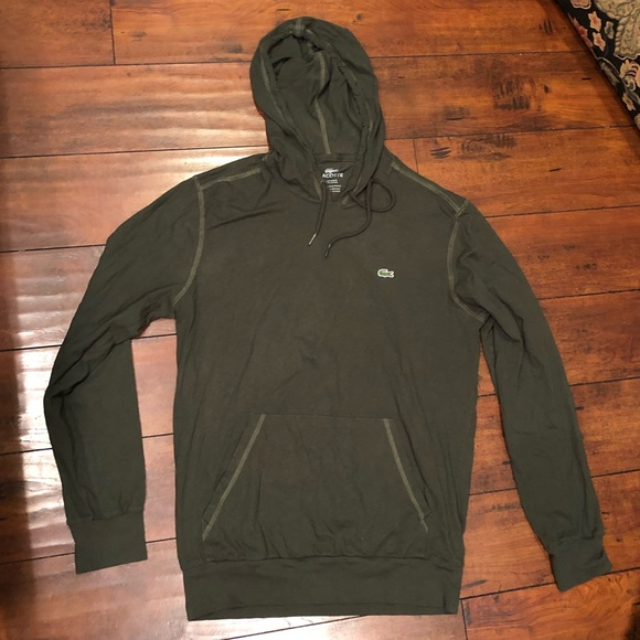 72651c505769 Lacoste Other - Lacoste Dark Green Light Weight Hooded Pullover